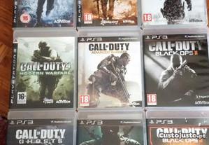 Colecção/lote 9 jogos Call of Duty ps3