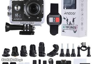 Action Cam Andoer 4K Wifi com comando