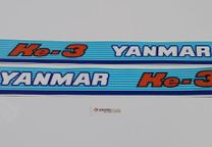 Yanmar ke- 3 e ke-4 YM 155 240 Autocolantes