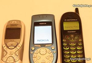 2 Telemóveis Motorola T180 + Siemens + Capa Nokia