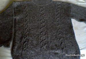 Camisola de Inverno Grossa Cinzenta (como nova)